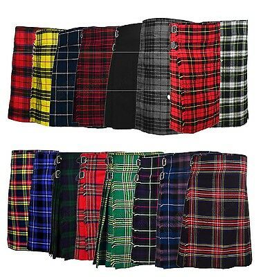 Men's Scottish 5 Yard Kilts 13 OZ Kilt Casual Kilt Top Quality Kilts 32 To 46