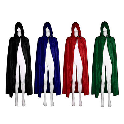 Velvet Hooded Halloween Costumes For Festival Performance Witches Cloak Cape AU
