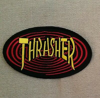 """""""thrasher"""" Embroidered Cloth Patch .. New Skateboard Skate Surfboard Surfing"""