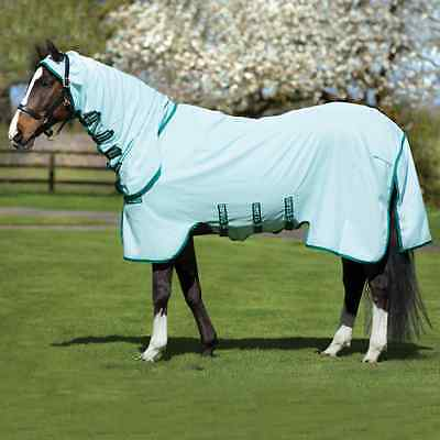 Rambo Pony Sweetitch Hoody FREE FLY MASK - Ice Green/Green