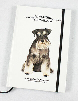 Miniature Schnauzer Dog Gift - A5 Hard cover notebook - 240 lined pages