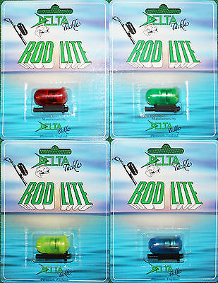 Rod Tip Light, Delta Led, Reusable, Red, Green, Yellow Or Blue X 1.
