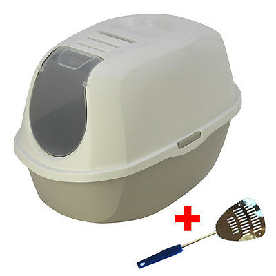 Maison De Toilette Chat / Bac Litiere Pour Chat-Filtre + Pelle As97417Fi+Aepel1
