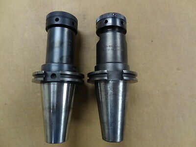 "Two Cat 50 Tg100 Collet Tool Holders 5"" Proj Calenite V50Ct-10Sg-55 And Lyndex"