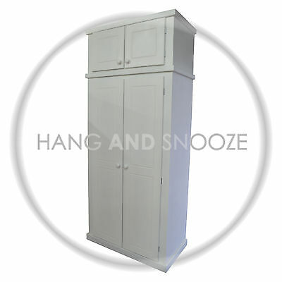 Handmade Dewsbury 2 Door Ladies Wardrobe With Topbox (Assembled)