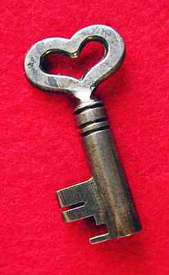 Scarce GENUINE Antique Skeleton Key W/ Heart Bow - More Key Collector Gifts Here
