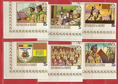 Guinea,  Scouts Imperf. set. MNH. 1969