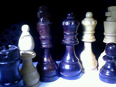 Vintage Wooden Chess Set complete