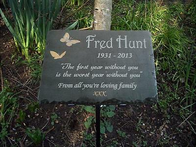 Memorial Slate Sign Plaque with Gold Detailing - Personalised for your Loved one