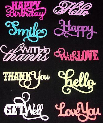 Anna Griffin Die Cuts Happy Birthday Get Well Thank you + Assorted Color Choices