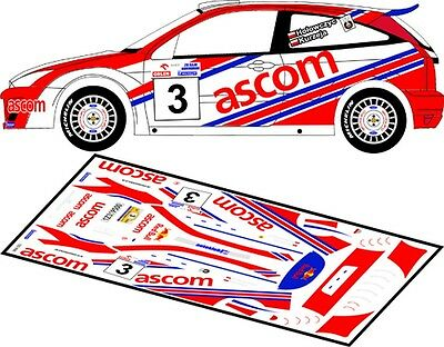 KULIG D43025 RALLYE DE POLOGNE 2002 #3 DECALS 1//43 FORD FOCUS RS WRC