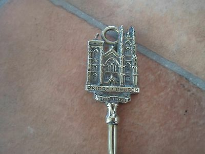 GOOD Vintage Brass Toasting Fork + Handle Depicts : PRIORY CHURCH, BRIDLINGTON