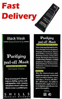 Shills Blackhead Peel-off Purifying Deep Cleaning Ficial Black Mud Mask 50ml