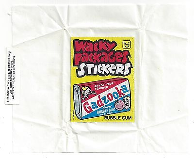 1981 Topps Wacky Packages IRISH TEST SERIES WAX PACK WRAPPER nm rare