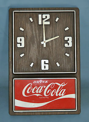 Coke Coca Cola Wall Clock Battery Power Nice Color Quartz Not Working