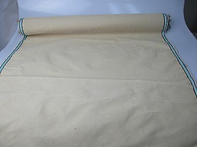 Antique velvet fabric remnant France Victorian cotton silk Vanilla  piece 3334