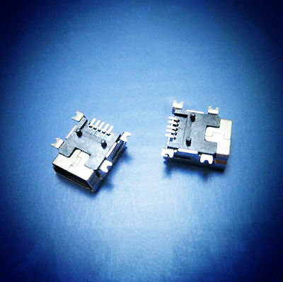 2Pcs Female Mini USB Type B 5-Pin SMT SMD Socket Jack Connector Port PCB Board