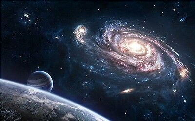 """Galaxy Universe Space Stars Wall Poster 21""""X13''  S10"""