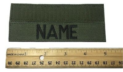 "OD GREEN Custom NAME TAPE 5"" Length - US ARMY USAF MARINES POLICE Military Tape"