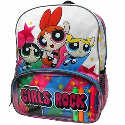 Cartoon Network Power Puff Girls Bubbles, Buttercup and Blossom Girls Rock 16...
