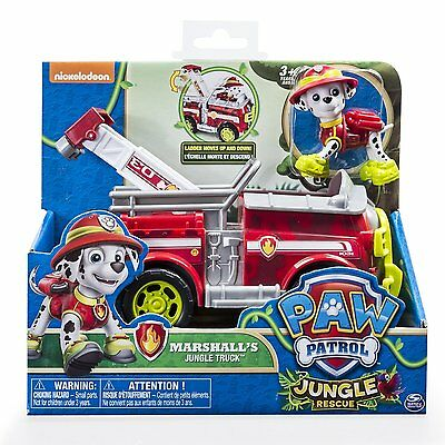 Paw Patrol Marshall Jungle Rescue Fire Truck Toy -Authentic-Paw Patrol Toys BNIB