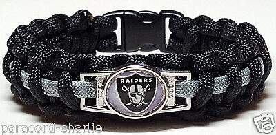 Oakland Raiders Handmade Paracord Bracelet or Lanyard or Deluxe Key Chain