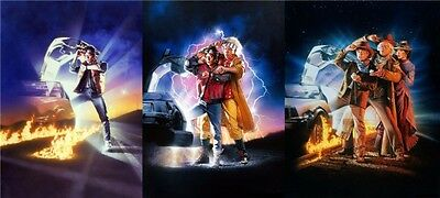 """Back To The Future 1 2 3 Hot Movie Art Wall Poster 57/""""x24/"""" 013"""