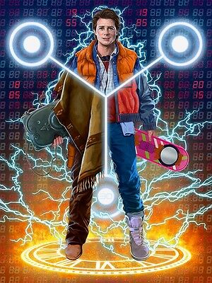 """Back To The Future 1 2 3 Hot Movie Art Wall Poster 40/""""x24/"""" 011"""