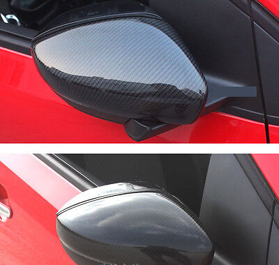Vw Full Carbon Fibre Side Wing Mirror Covers Caps Polo 6R 6C Gti Tdi Fsi  Dsg R