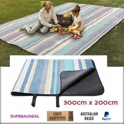 Extra Large Travel Rug Outdoor Picnic Beach BBQ Water proof Moisture proof