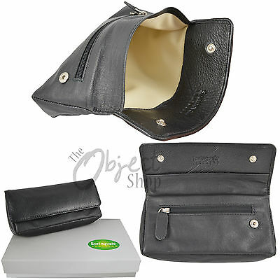 Springvale Leather Top Quality Tobacco Pouch Holder Cig Roll Ups Case pockets