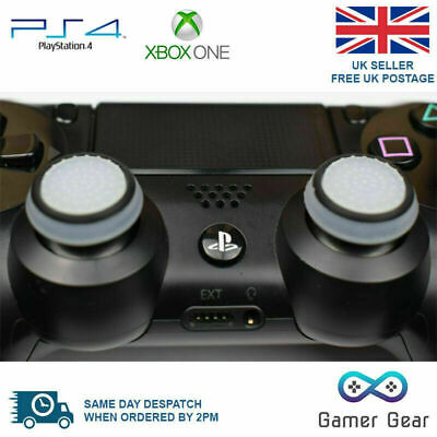 2 x Rubber Thumb Stick Cover Grip PS3 PS4 XBOX One Analog Controller -W&B Stripe