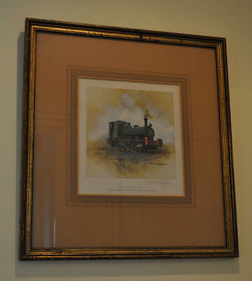 David Shepherd Signed Print Of Steam Engine Andrew Barclay 1398 Lord Fisher