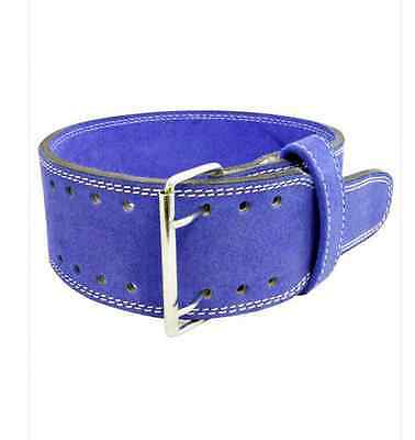 Vyomax Suede Powerlifting Belt - Blue  -  Great value!
