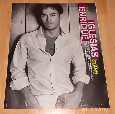 Enrique Iglesias - Stars, 13-Page Advertisements/article 2007