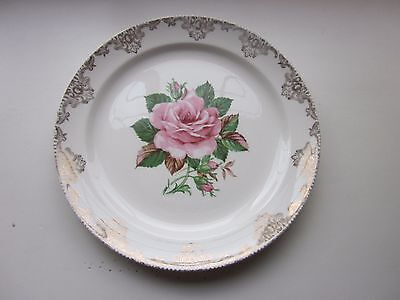 Paden City Pottery American Rose Dinner Plate  Vintage 9 1/4""