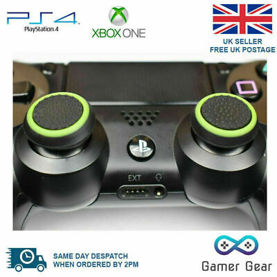 2 x Rubber Thumb Stick Cover Grip PS3 PS4 XBOX One Analog Controller -B&G Stripe