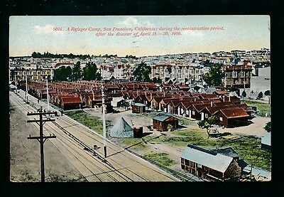 USA California SAN FRANSISCO Refugee Camp sfter 1906 Disaster 1909 PPC