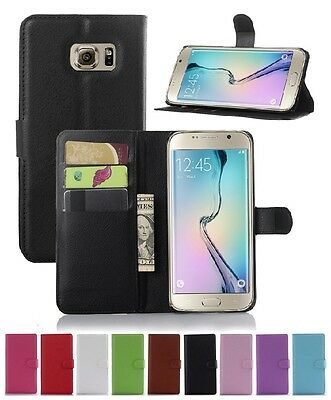 Wallet Leather Flip Case Cover For Samsung Galaxy S6 Edge+ Plus Genuine AuSeller
