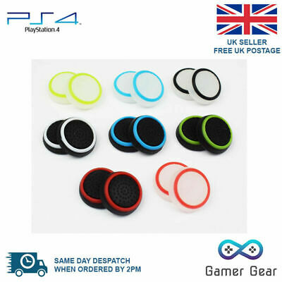 2 x Striped Rubber Thumb Stick Cover Grip for PS4 XBOX One Analog Controller