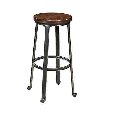 Rustic Bar Stools Set Of 2 Home Barstool Pub Industrial Tall Dining Furniture