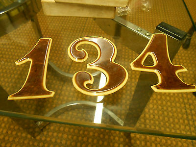 Vintage House numbers 134 (looks to be bakelite) very nice!