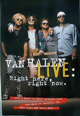 Van Halen Live Right Here Right Now 1993 Vintage Music Record Store Promo Poster