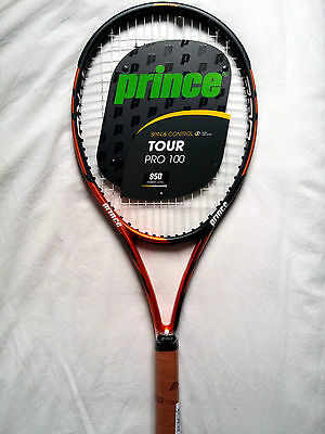 Raquette Neuf PRINCE TOUR PRO 100 Grip 3 (US 4 3/8) NEW Racket Strung