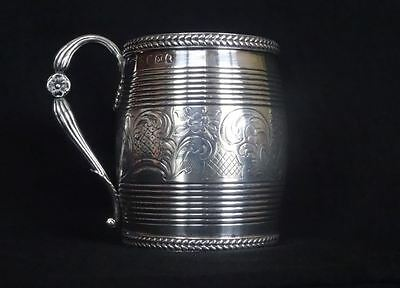VERY GOOD, ANTIQUE, GEORGE III, ENGLISH STERLING SILVER MUG, LONDON c1807