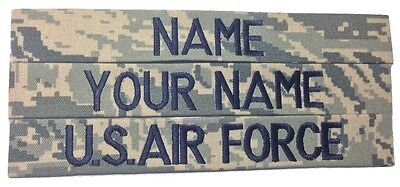 3 piece ABU Custom Name Tape & US Air Force USAF Tape set, Sew-On