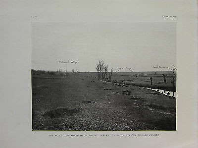 1918 Ww1 Wwi Print ~ The Selle Just North Of Le Cateau