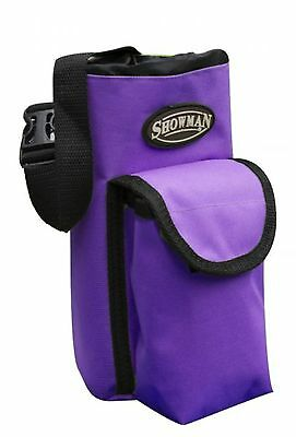 Showman PURPLE Insulated Nylon Bottle Carrier W/ Pocket Trail Riding! HORSE TACK
