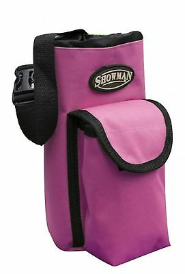 Showman PINK Insulated Nylon Bottle Carrier W/ Pocket Trail Riding! HORSE TACK!