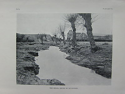 1918 Ww1 Wwi Print ~ The Selle South Of Le Cateau